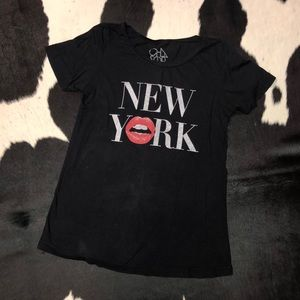 Chaser New York graphic flowy t-shirt, xs-small